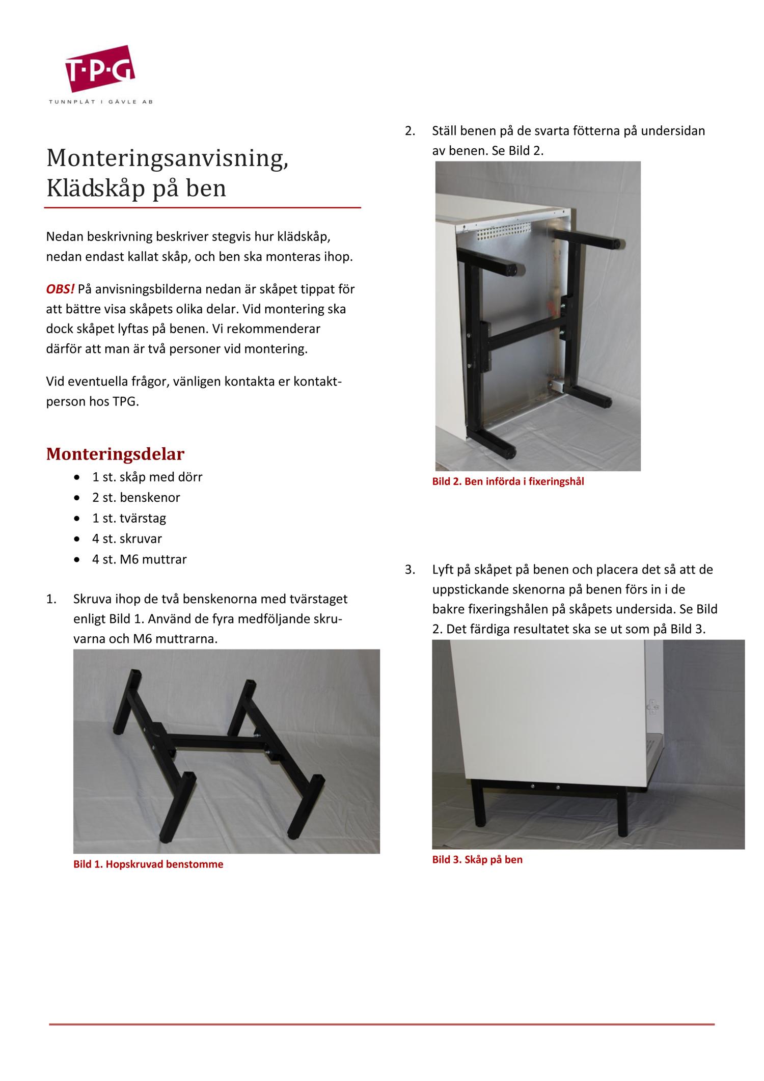 Monteringsanvisning_ben_standardskåp